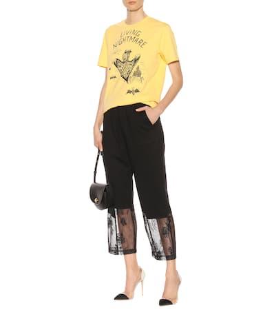 Aus Gold Bedrucktes Baumwolle Southern Alexander Mcq Mcqueen T shirt TZx8wXwq