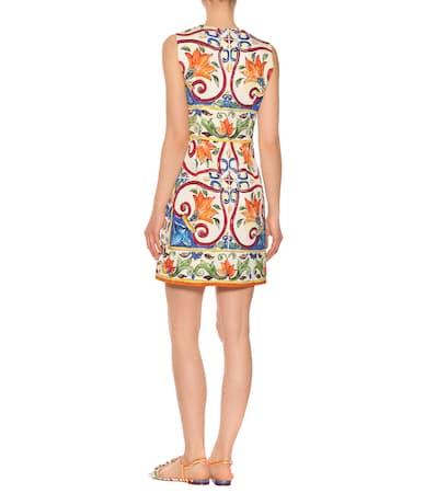 Dolce Gabbana Aus Etuikleid Dolce amp; amp; Baumwolle Mehrfarbig Bedrucktes F4qBtxBw