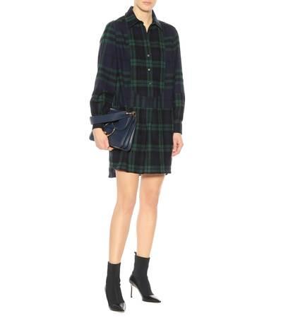 Burberry Kariertes Hemdblusenkleid Aus Wolle Marine/green Freies Verschiffen Truhe Bilder Extrem Verkauf Online R9wOP4SG7