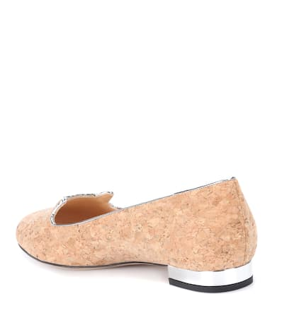 Kork Natural Aus Charlotte Kitty Kitty Natural Charlotte Olympia Silber Loafers Olympia Kork Loafers Aus qfvPFF