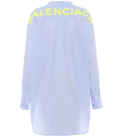 Givre Baumwollpopeline Baumwollpopeline Balenciaga Baumwollpopeline Bluse Givre Aus Bluse Aus Balenciaga Balenciaga Bluse Aus OrngOAF