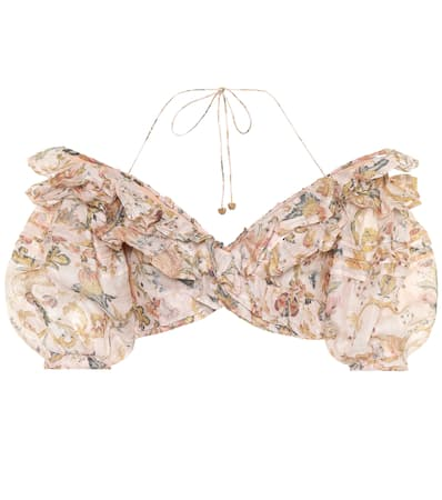 Und Leinen Aus Peach Top Tapestry Zimmermann Heart Painted Seide xX1TnY
