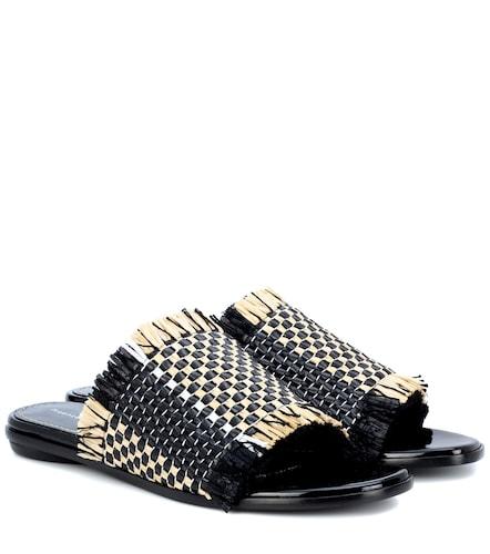 Sandales en cuir et raphia - Proenza Schouler - Modalova