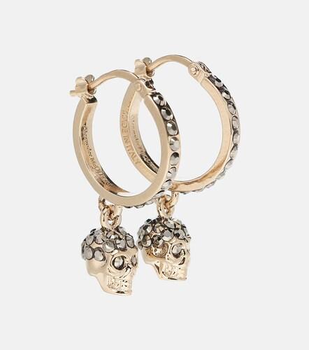 Boucles d'oreilles Skull ornées de cristaux - Alexander McQueen - Modalova