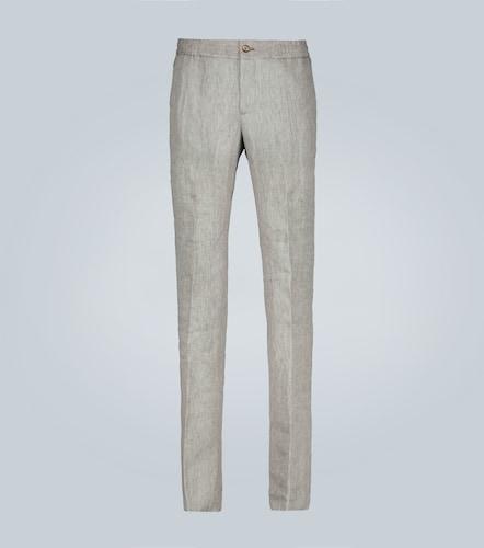 Pantalon à cordon en lin - Etro - Modalova