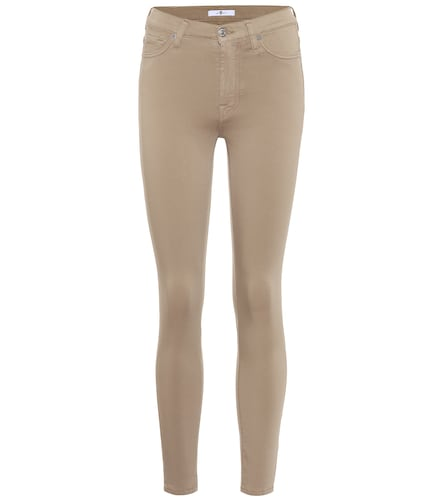 Jean High Waisted Skinny Crop à taille haute - 7 For All Mankind - Modalova