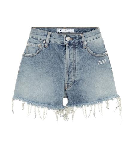 Short en jean à taille haute - Off-White - Modalova