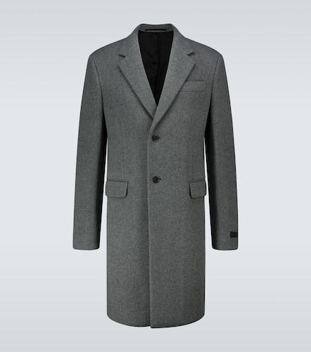 Manteau mi-long en laine - Prada - Modalova