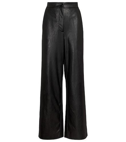 Pantalon en cuir synthétique - MM6 Maison Margiela - Modalova