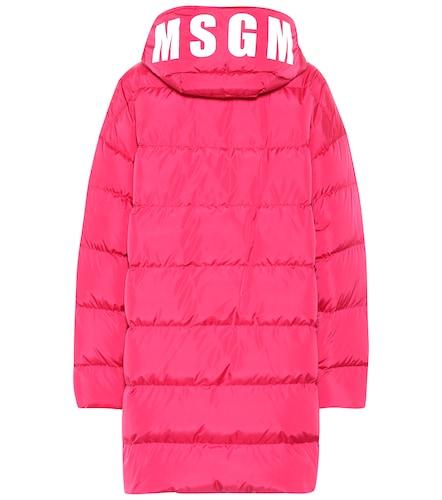 Manteau doudoune imprimé à capuche - MSGM - Modalova