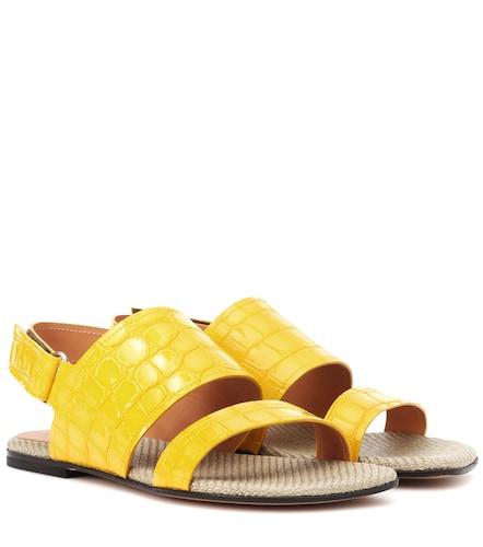 Sandales en cuir embossé - Dries Van Noten - Modalova
