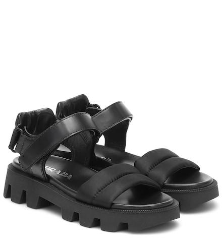 Sandales en cuir et nylon - Prada - Modalova