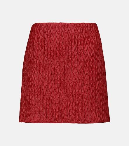 Mini-jupe matelassée - Miu Miu - Modalova