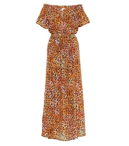 Exclusivité Mytheresa – Robe longue en soie à motif léopard - ANNA KOSTUROVA - Modalova