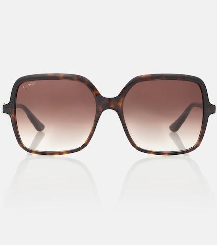 Lunettes de soleil Signature C carrées - Cartier Eyewear Collection - Modalova