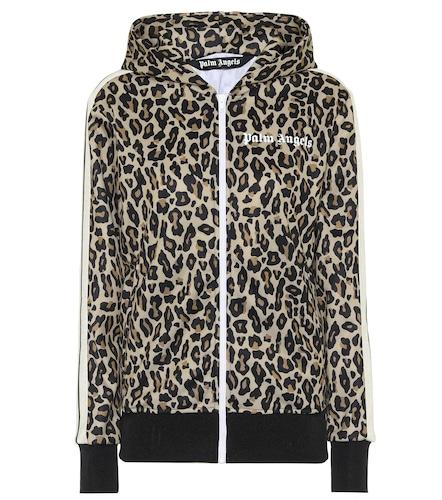 Veste de survêtement à capuche et motif léopard - Palm Angels - Modalova