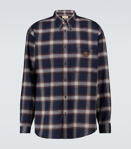 Chemise manches longues à carreaux - Gucci - Modalova