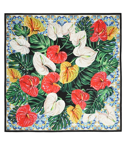 Foulard imprimé en soie - Dolce & Gabbana - Modalova