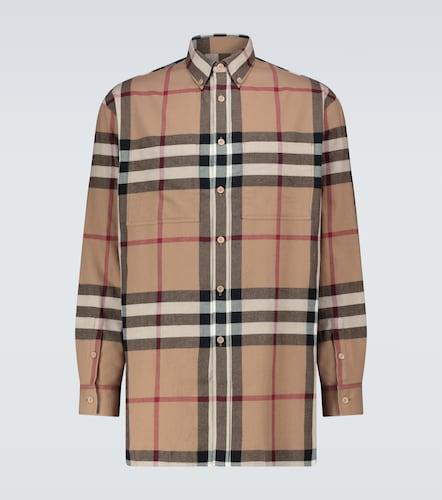 Chemise à carreaux House en flanelle de coton - Burberry - Modalova