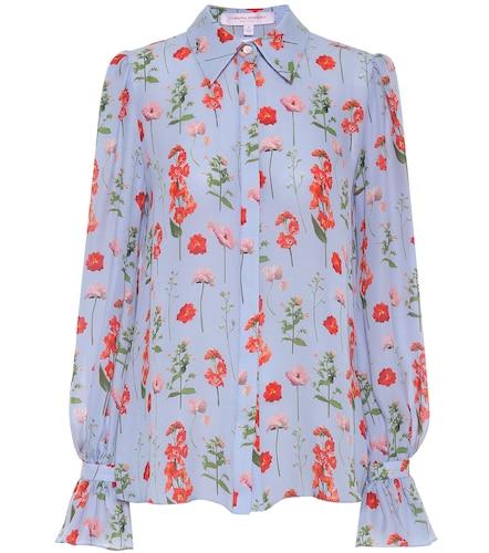 Blouse en soie à fleurs - Carolina Herrera - Modalova