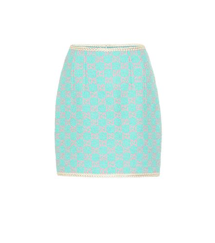 Mini-jupe en tweed GG de coton et laine mélangés - Gucci - Modalova