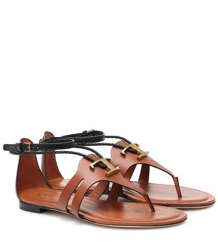 Sandales T en cuir - Tod's - Modalova