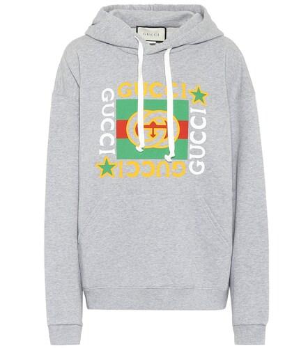Sweat-shirt imprimé à capuche en coton - Gucci - Modalova