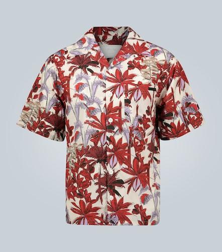 Chemise manches courtes à imprimé palmiers - Prada - Modalova