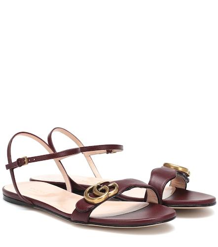 Sandales GG Marmont en cuir - Gucci - Modalova