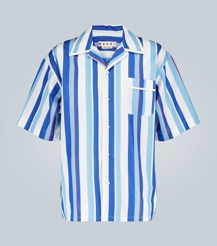 Chemise col cubain à rayures - Marni - Modalova