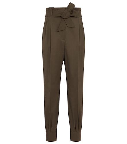 Pantalon Eburnea à taille haute en coton - Max Mara - Modalova