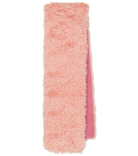 Écharpe en mohair, coton et laine vierge - Miu Miu - Modalova