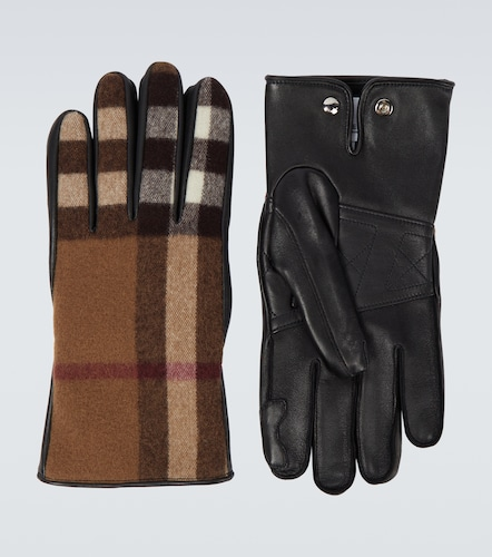 Gants en cuir et laine - Burberry - Modalova