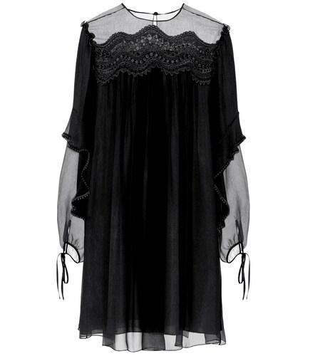 Exclusivité Mytheresa – Robe en soie et dentelle - Chloé - Modalova