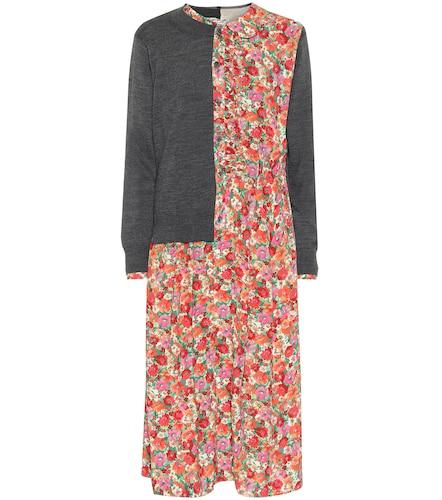 Robe midi imprimée en laine mélangée - Junya Watanabe - Modalova