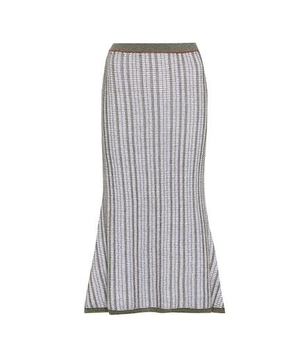 Jupe en maille de laine et coton mélangés - Victoria Beckham - Modalova
