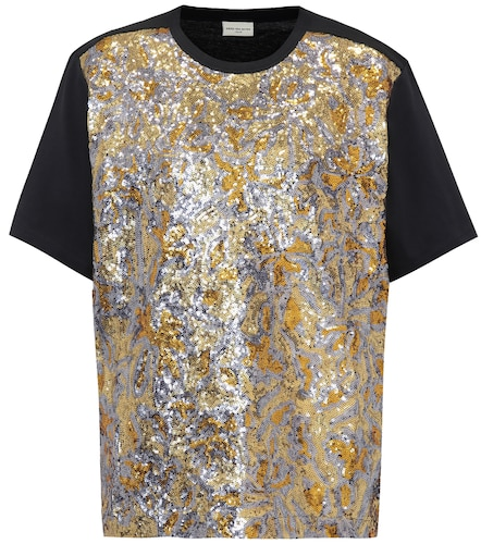 T-shirt en coton à sequins - Dries Van Noten - Modalova