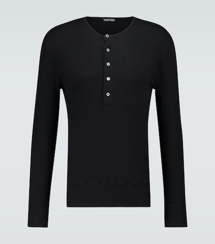 T-shirt Henley à manches longues - Tom Ford - Modalova