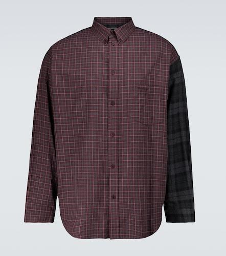 Chemise en flanelle de coton à carreaux - Balenciaga - Modalova