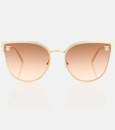 Lunettes de soleil Panthère de Cartier œil-de-chat - Cartier Eyewear Collection - Modalova