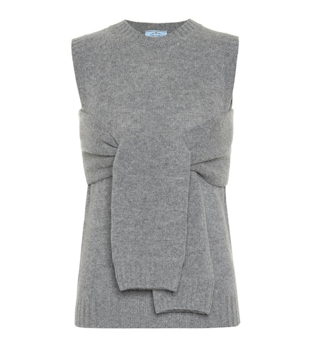 Pull sans manches en laine et cachemire - Prada - Modalova