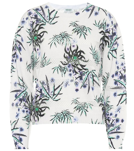 Sweat-shirt imprimé en coton mélangé - Kenzo - Modalova