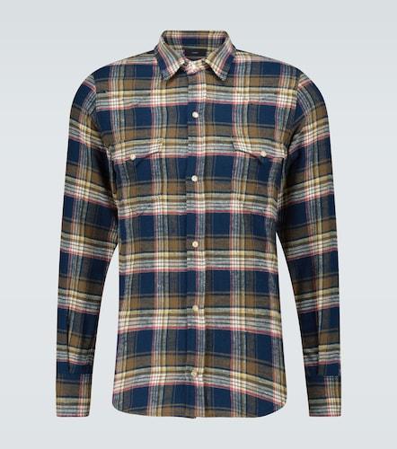 Chemise à carreaux en flanelle de coton - ALANUI - Modalova