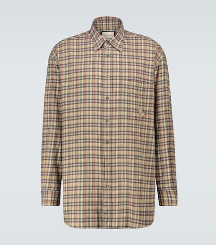 Chemise à carreaux en coton - Gucci - Modalova