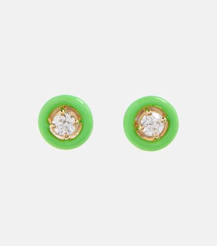 Boucles d'oreilles Sylvie en or 18 ct et diamants - Melissa Kaye - Modalova