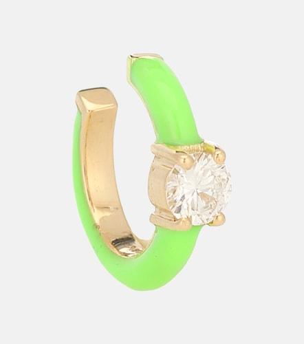 Boucle d'oreille unique Aria U en or 18 ct et diamant - Melissa Kaye - Modalova