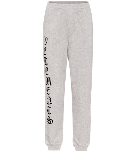 Pantalon de survêtement imprimé en coton - VETEMENTS - Modalova