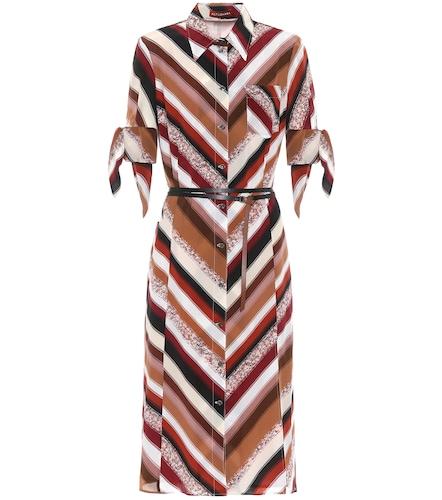Robe chemise midi Narcissa imprimée en soie - Altuzarra - Modalova