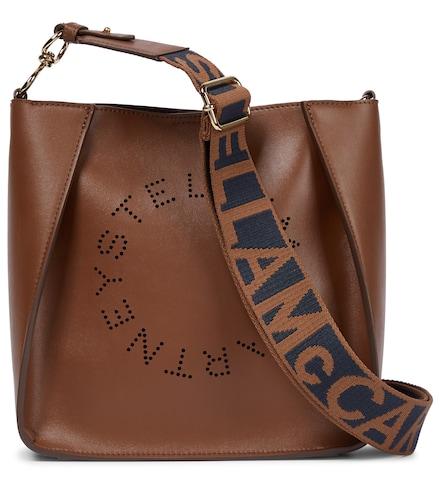 Sac à bandoulière Stella Logo en cuir synthétique - STELLA McCARTNEY - Modalova