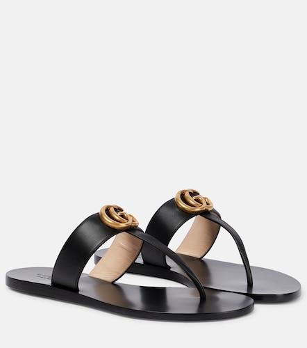 Sandales Double G en cuir - Gucci - Modalova